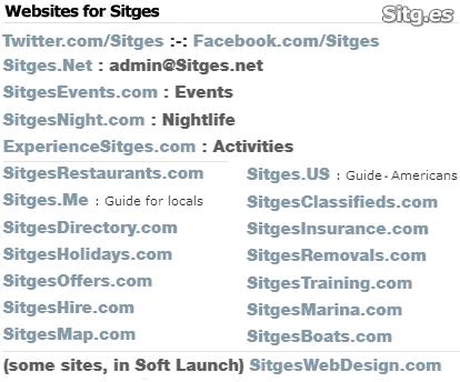 sitges websites list